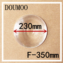 1 pcs Round Optical PMMA Plastic Car Parking Wide Angle Fresnel Lens Large Diameter 230 mm Focal Length -350mm Minifier Lens(China)