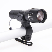 8000LM Zoom XML T6 LED Aluminum Alloy 5 Modes Flashlight Cycling Bike Lights Set + 18650 Battery + Charger + Bicycle Clip Holder