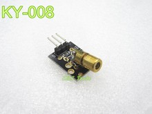 new 10pcs KY-008 650nm Laser sensor Module 6mm 5V 5mW Red Laser Dot Diode Copper Head