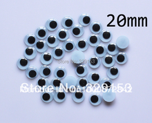 Wholesale 20mm 1000pcs Googly Eye, Wiggle Doll Toy Eyes,Movable Eye Plastic Eyes(China)