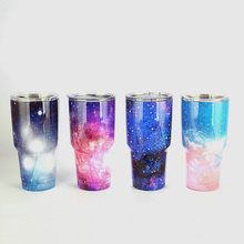 New Hot Stars Rainbow 30oz Cups Cooler Stainless Steel Rambler Tumbler Cup Car Vehicle Beer Mugs Vacuum Insulated 4 Colors