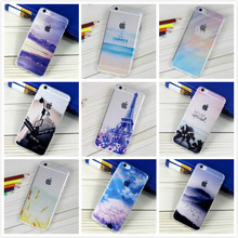For Apple iPhone 6 6S Cover Flexible Art Oil Painted Travel Fine View Half Translucent Phone Case for iPhone 6S Plus 19 Designs