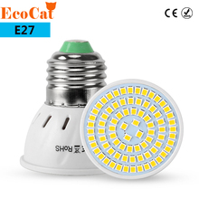 ECO CAT E27 LED BULB Spotlight LED E27 Lamp 220V 2835 SMD Heat-resistant Fireproof 48LED 60LED 80LED Bulb For Chandelier light(China)