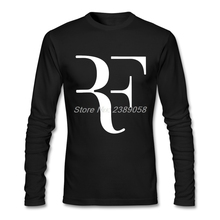 Newest Men t-shirt Long Sleeve Roger Federer Slim Fit Printed RF Tees Camisetas Hombre Men Clothing T shirt(China)