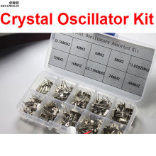200PC/LOT Crystal Oscillator Assorted Kit Assortment Set, 32.768KHz ~ 48MHz 10 Values Each 20pcs With Box CGKCH063(China)