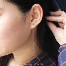 The new contracted ear line 925 sterling silver fine small arguably short-eared line ear chain