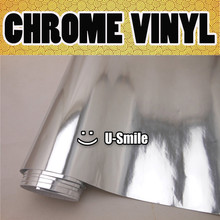 SILVER CHROME Vinyl Wrap Sticker Decal Chrome SIlver Vinyl Film Roll Air Bubble Free For Car Wrapping(China)