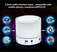 Mini Bluetooth Speakers Small Portable Speakers Bluetooth Speaker have LED light to play music voice, hand-free calling