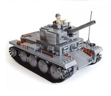 KY82009 Century Military German Light Tank PzKpfw II Ausf L Luchs Building Block Armored Vehicle Model Toys