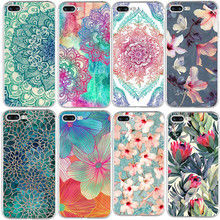 Flowers silicone TPU For iPhone X 8 4 4S 5 5S SE 5C 6 6S 7 Plus Case For Xiaomi Redmi 4 4A 3S 3 S 4X Note 3 4 Pro Prime 4X