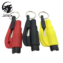Jelbo 1Pcs Mini Emergency Safety Hammer Knife Car Escape Tool Keychain Auto Window Glass Breaker Seat Belt Cutter Rescue Hammer