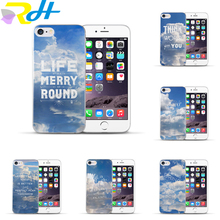 Most popular Full edge Hard PC For Apple iPhone 6 6s White clouds Phone accessories Back cover Phone case For iPhone 6s(China)