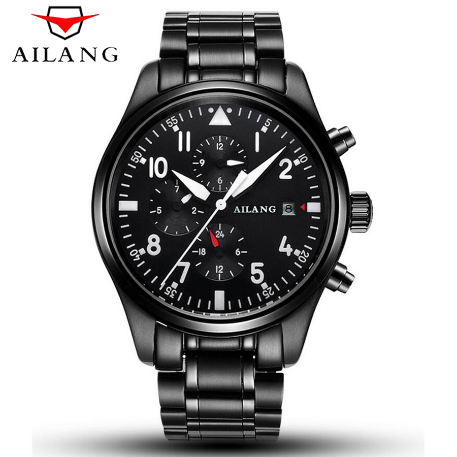 6 Hands Mens Waterproof 50M Luminous Military Pilots Watch AILANG Top Brand Mechanical Watch Men Sports Series Luxury Watches<br>