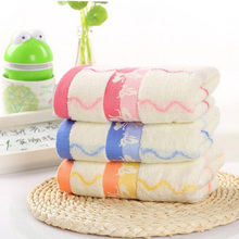 35*75cm High Quality Floral Butterfly Washcloth Wave Line Pattern Cotton Bath Towels for Adults Bath Towels Bathroom