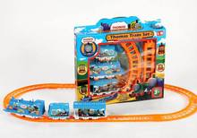 Thomas Train/ electric plastic train toys/ slot battery vehicle trains /Christmas gifts for kids and children, free shipping(China)