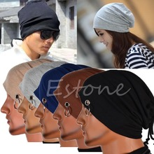 Multifunction Men Hip-hop Knitted Cap Ring Lacing Beanie Unisex Baggy Light Hip-Hop Skull Cap