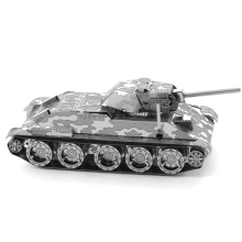 Ww2 T34 Medium Tank Fun 3d Metal Diy Miniature Model Kits Puzzle Toys Children Educational Boy Splicing Science Hobby Building