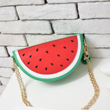Super Deal Fashion Women Watermelon Handbags Famous Brands Orange Fruit Shoulder Bag Laides Chain Messenger Crossbody Bag Summer