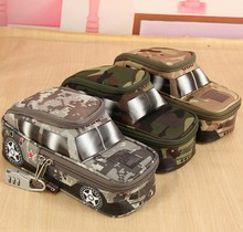 Portable Oxford Camouflage boy Car pouch Style large Pencil Case vehicle Bag Pen Holder School Supply with Combination Lock(China)