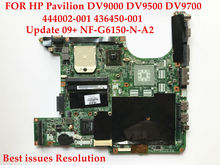 Original laptop motherboard for HP Pavilion DV9000 DV9500 DV9700 AMD Socket S1 444002-001 436450-001 DDR2 Updates NF-G6150-N-A2
