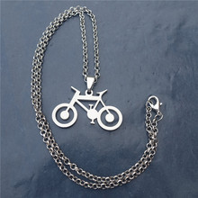 Link Chain 50cm Fashion Men Stainless Steel Bicycle Pendant Necklace Women Jewelry