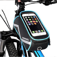 ROSWHEEL Cycling Smart Phone Bag 6.2 inch Touch Screen Extra Large MTB Road Bike Bicycle Pannier Top Frame Basket Pouch D12496