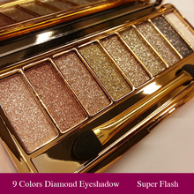 Professional Eye Shadow Maquillage 9 Colors Diamond Bright Makeup Eyeshadow Smoky Palette Make Up Set(China)
