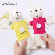New Cute Cartoon Kawaii Plush Pencil Case Creative Lovely Rabbit Pen Bag For Kids Gift School Supplies(China)