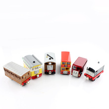 1pcs Children Thomas and friends trains magnetic railway diecast tomas models mini bus carriages cars toys loose gifts for kids