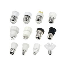 E14 to E27 B22 to E27 E27 to B22 GU10 to E27 Screw Base Lamp Socket Holder LED Light Bulb Adapter Screw Base