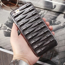 1 Pc/lot Plating Soft TPU 3D Bullet Cell Phone Case Back Cover for iPhone 6s 6 Plus with Touchscreen Pen