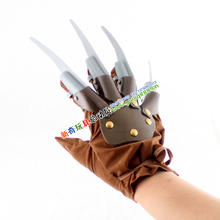 Free shipping, halloween hot products Freddy Vs Jason soft plastic freddy's ,halloween props,Freddy's gloves(China)