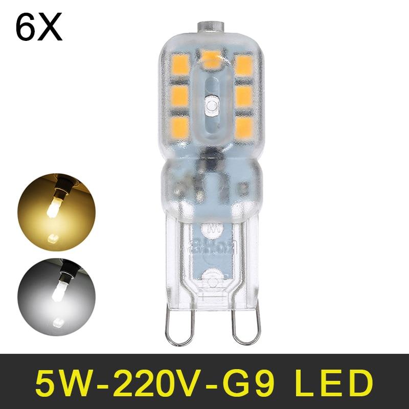 Mini LED G9 Lamp 5W SMD2835 G9 LED Bulb Chandelier LED Light 220V 240V High Quality Lighting Replace Halogen Lamps 6pcs/lot<br><br>Aliexpress