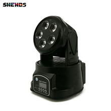 Fast Shipping LED Moving Head Mini Wash 5x18W RGBWA+UV Good for Disco DJ Party Beam LED Stage Lighting(China)