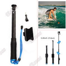 For GoPro Extendable Monopod GoPro Hero 4 3 Remote Pole Aluminum Telescoping Handheld /W Adapter For SJCam SJ4000 Accessories