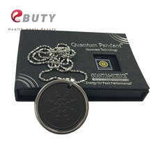 Negative Ions Quantum Pendants  Necklace Scalar Energy Charms With Stainless Steel Chain With Card and Retail Package 50pcs/lot