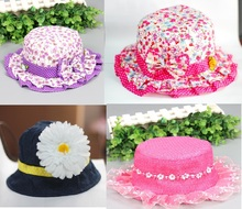 baby girl flower and jeans hat infant kid caps  several colors