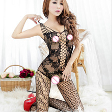 Hot Sexy lingerie Soft lace temptation perspective Transparent hollow out Mesh cloth erotic lingerie costume Women sex products