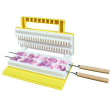 Clever Barbecue skewer machine BBQ Kebab Maker Meat Brochettes Skewer Machine Bbq Grill Accessories Tools Set(China)