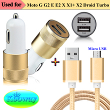 Dual USB Car Charger&Micro USB Charging Data Cable for Motorola Moto G G2 E E2 X X1+ X2 Droid Turbo Sync Micro USB Charger Cable