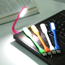 5 Colors 1.2W Portable Flexible Mini Silicone USB LED Torch Night Light Lamp For Computer Notebook PC Laptop Book Reading 5V New