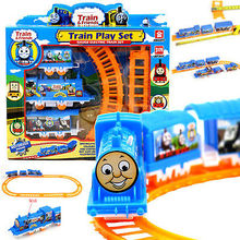 With Original Box Thomas and train electric Train Set Thomas And Friends Hot Wheels Cars Machines Toy Vehicles toys for children