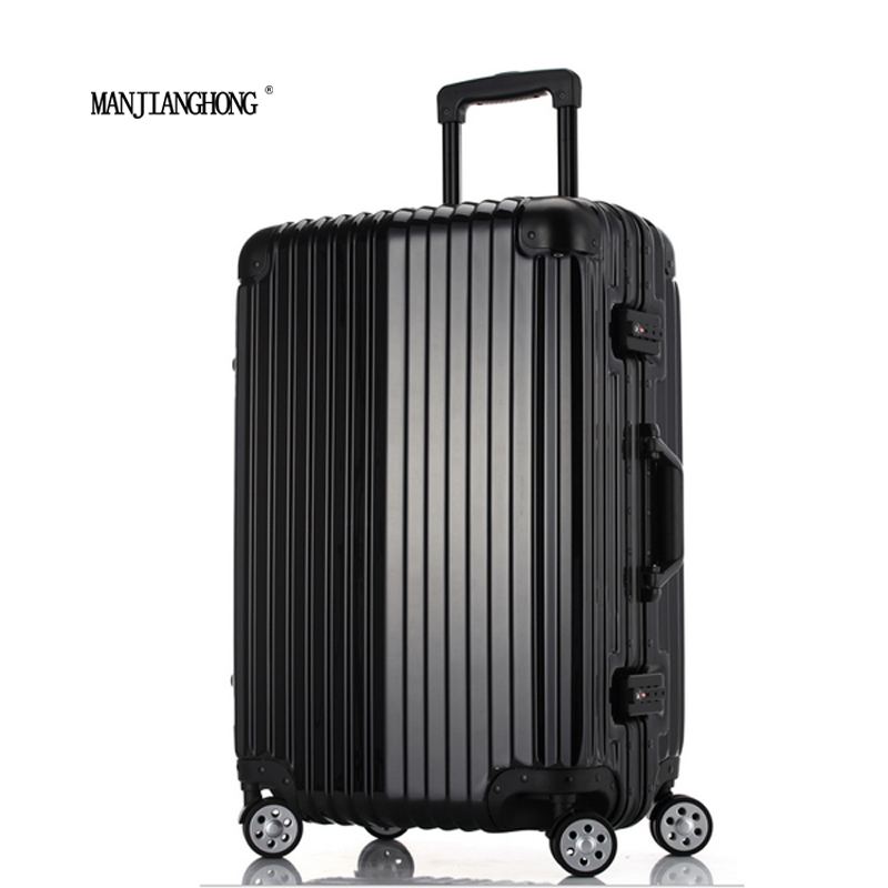 20Inch New High Quality Trolley Case TSA Lock Hook PC + ABS aluminum frame Spinner Wheels Rolling Luggage Case Hardside Suitcase<br><br>Aliexpress