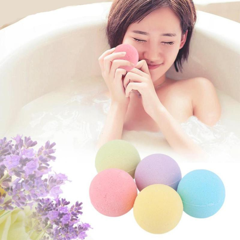 New Home Hotel Bathroom Bath Ball Bomb Aromatherapy Type Body Cleaner Handmade Bath Salt Gift 1 Piece Hot Sale random color(China (Mainland))
