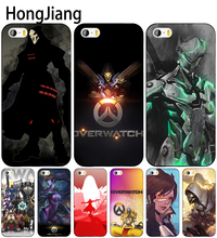 HongJiang overwatch cell phone Cover case for iphone 6 4 4s 5 5s SE 5c 6 6s 7 8 plus case for iphone 7 X(China)
