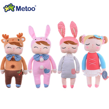 Genuine Metoo Angela plush dolls baby toy for children girl kids toys gift Lace Bunny Rabbit stuffed & plush animals with box(China)