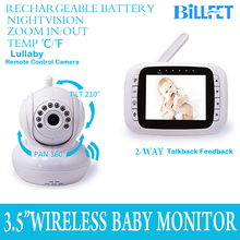 Wireless 3.5 inch TFT LCD Monitor Baby Video Monitor with Camera Baby Lullaby Remote Control PTZ Digital Video Camera Nanny Cam