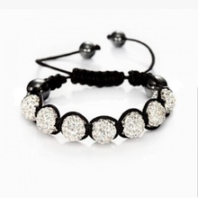 Fashion Shambhala Jewelry New Mix Colors Sales Promotion 10mm Crystal AB Clay Disco 9 Balls Shambala Bracelets