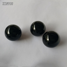XINTOU 1 Piece Black Obsidian Crystal Ball Buddhist Good Luck Feng shui Balls Raw Amber Stone Sphere Decorative Glass Marbles(China)