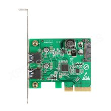 PCI-E Express 4x to USB 3.1 10Gbps Expansion Card Adapter w/Low Profile Bracket(China)